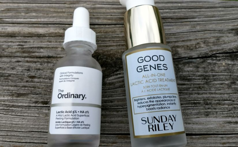 Sunday Riley Good Genes v. The Ordinary Lactic Acid 5% + HA 2%